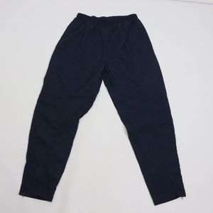 Vintage Adidas Spell Out Trefoil Nylon Pants Blue